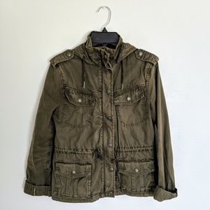 Aritzia Talula Trooper Jacket - XXS - Dark Olive